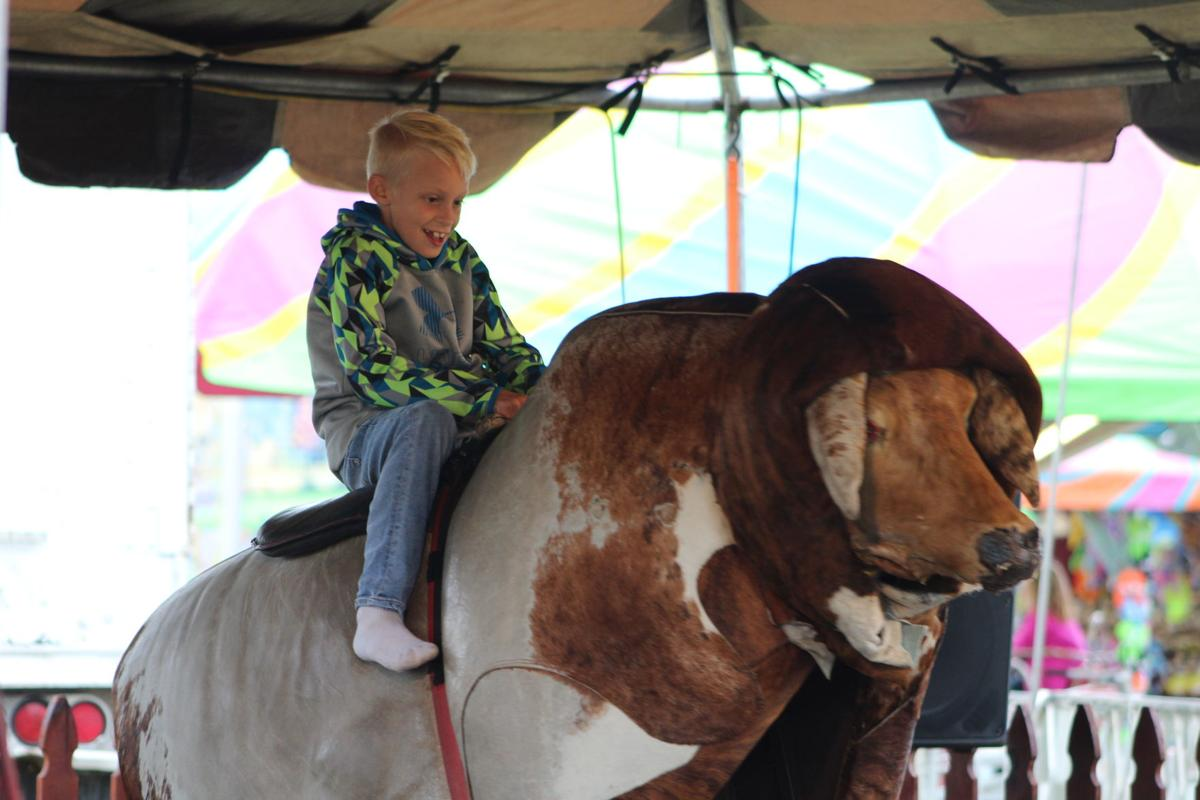 A mechanical bull was available for those brave enough to attempt it.