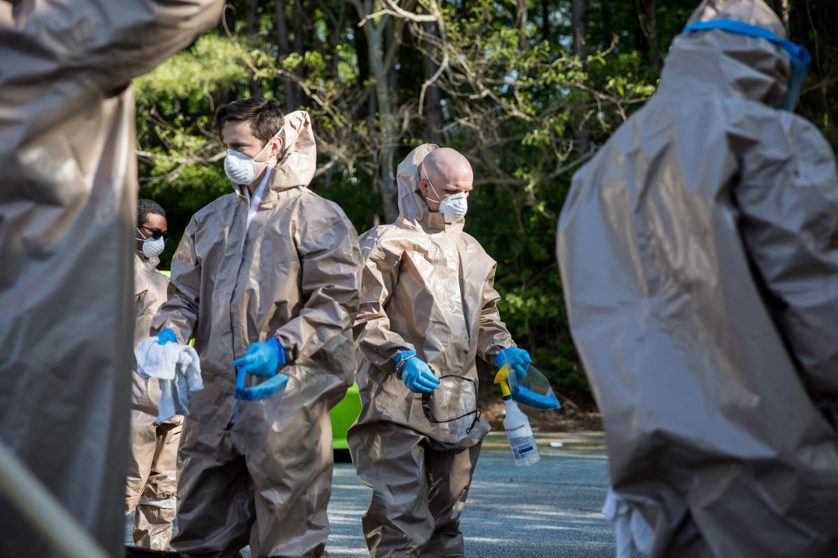 Georgia Guardsmen clean nursing homes