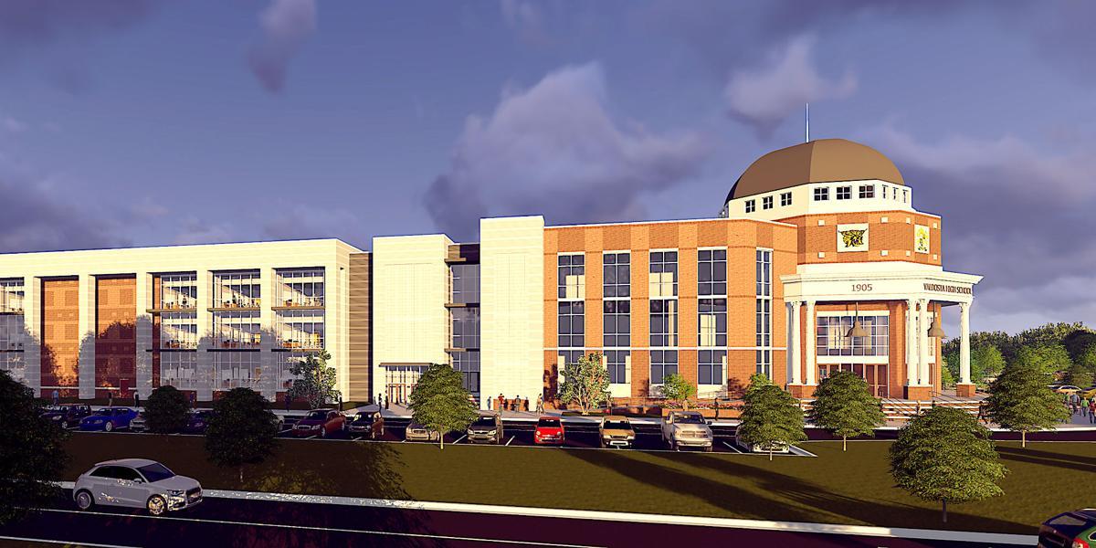 An artist's rendering of the new Valdosta High School.