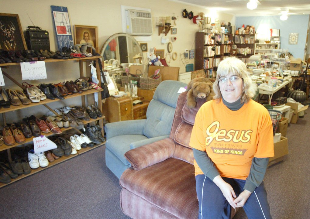 Paul Leavy/The Valdosta Daily Times Gail Weldon In Her Packrat Thrift Store  On St. Augustine Road In Valdosta.