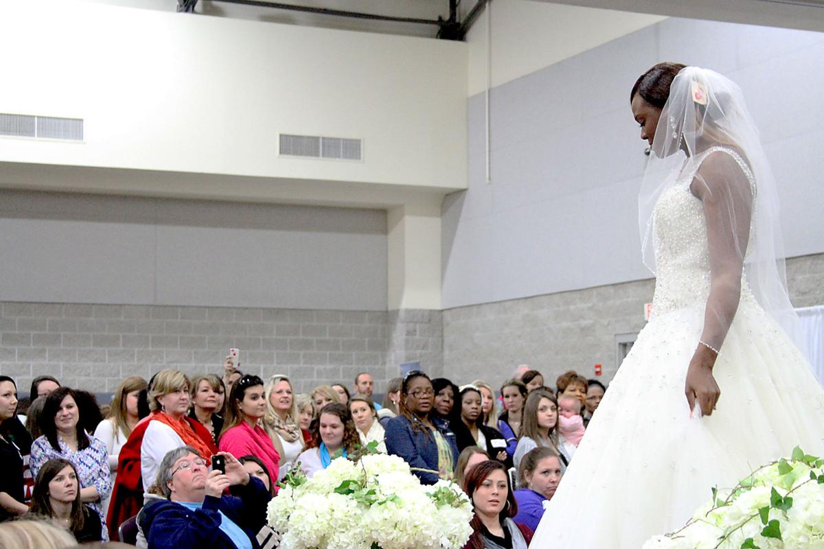 Dahlia A Model For Sylvias Models Shows Bridal Gown At The 2015 South Georgia Expo Saturday