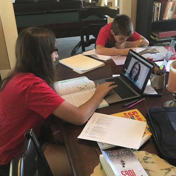 Virtual Class: St. John Catholic School stays connected