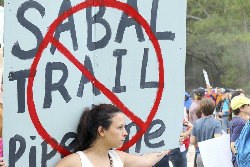 Hundreds protest pipeline