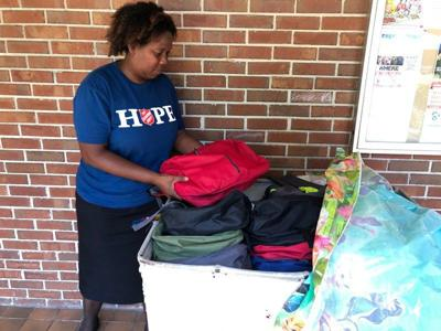 Salvation Army gives away book bags