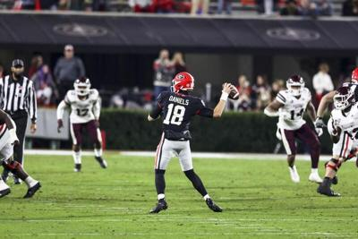 Georgia offense finding its stride in Monken's first season