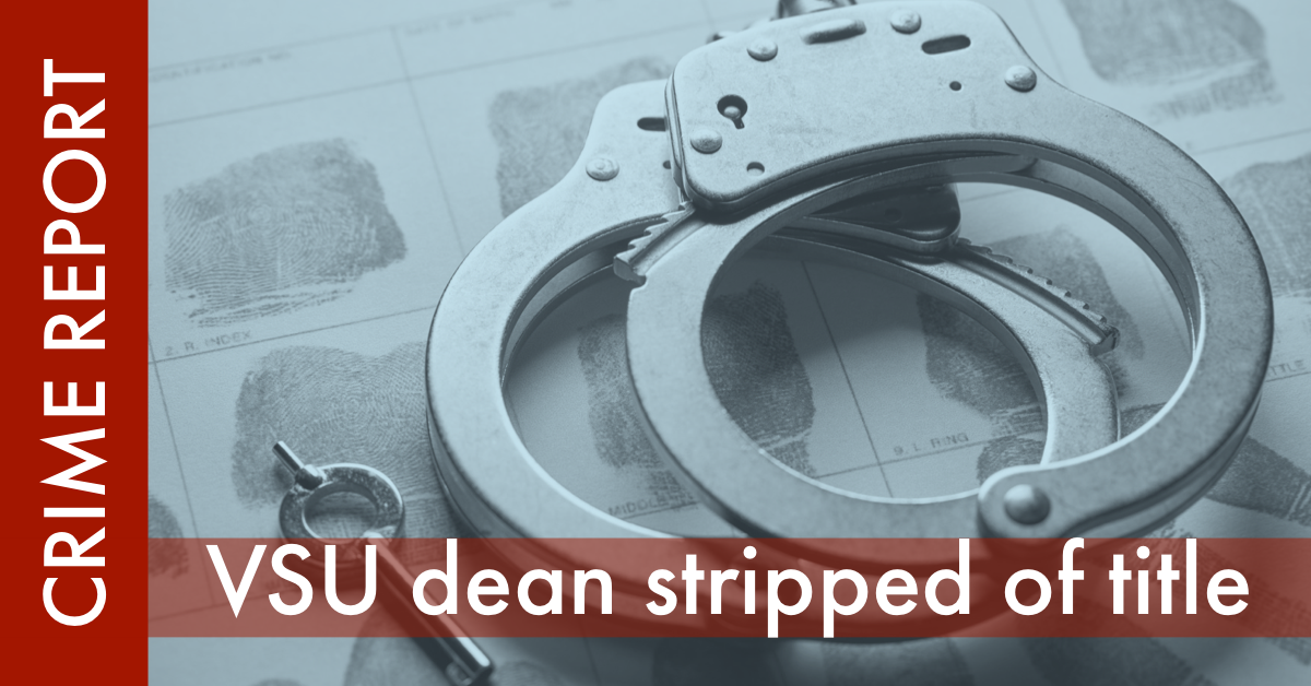 VSU dean stripped of title graphic