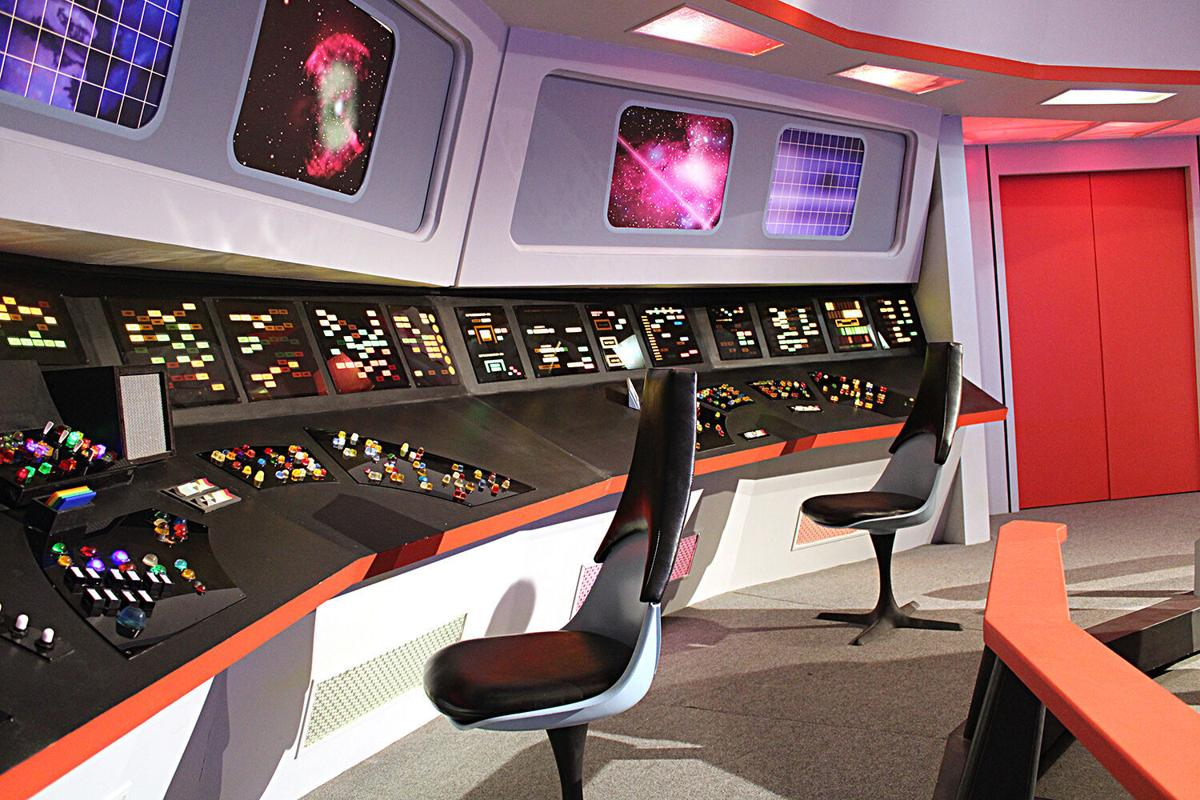 Closeup of console