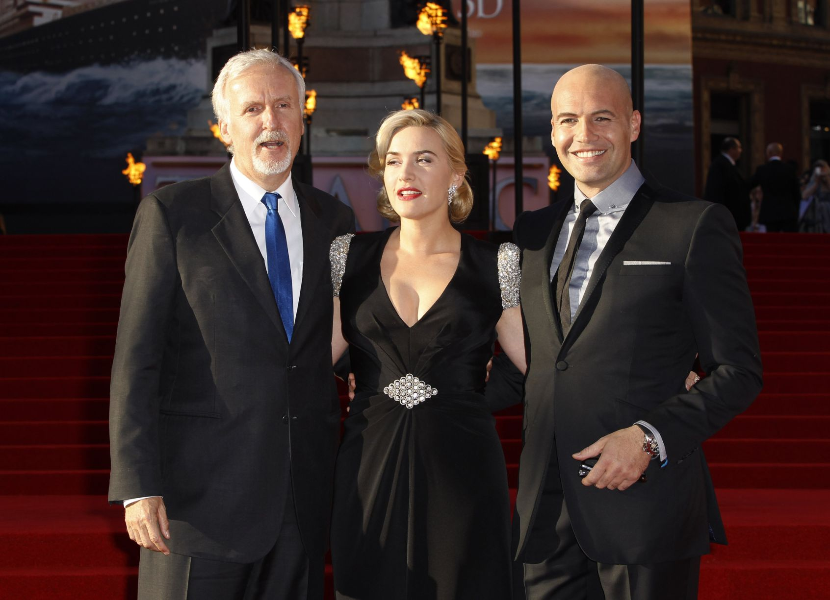 Kate Winslet and James Cameron showed Titanic in London in 3D 03/29/2012 38