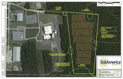 Solar arrays planned for land