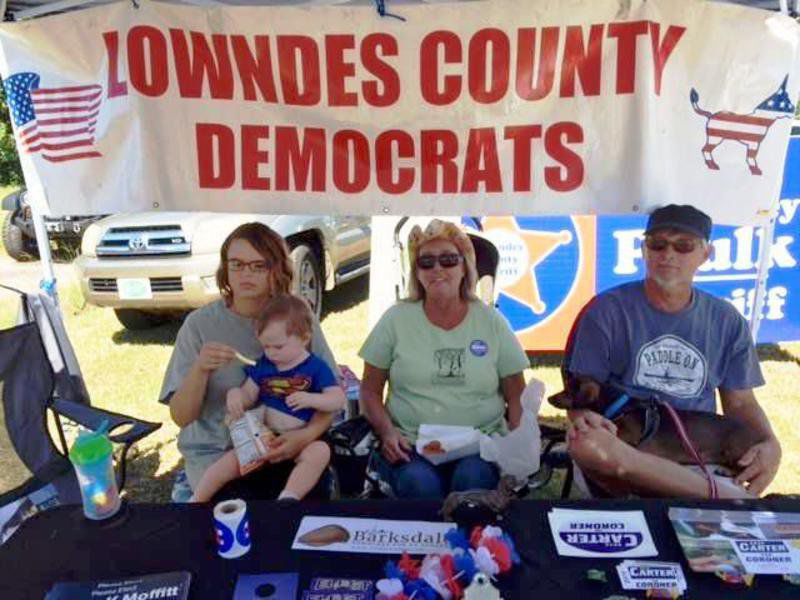 Lowndes County Democratic Party booth