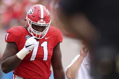 Georgia tests deep offensive line unit