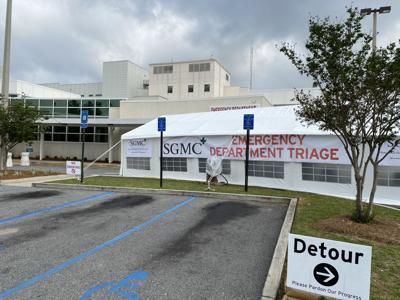 SGMC triage tent