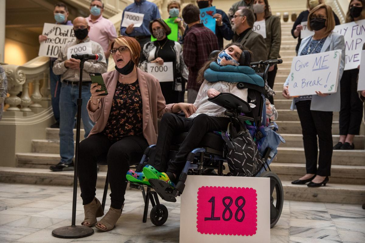 Families, lawmaker call for state to fully-fund disability services