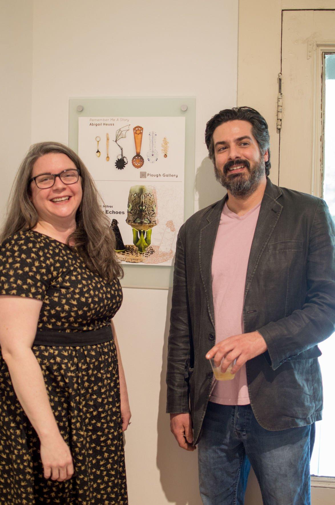 Artists Abigail Heuss and Matt Mitros at Plough Gallery.