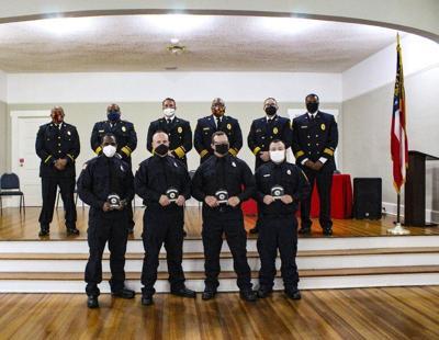 Four VFD firemen climb the ranks