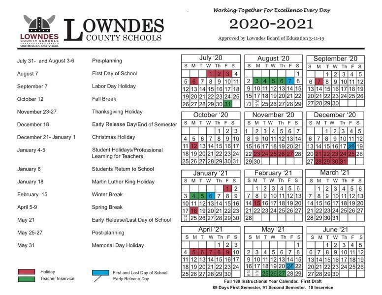 Troup County School Calendar 2020 County school calendars adjusted | Local News | valdostadailytimes.com
