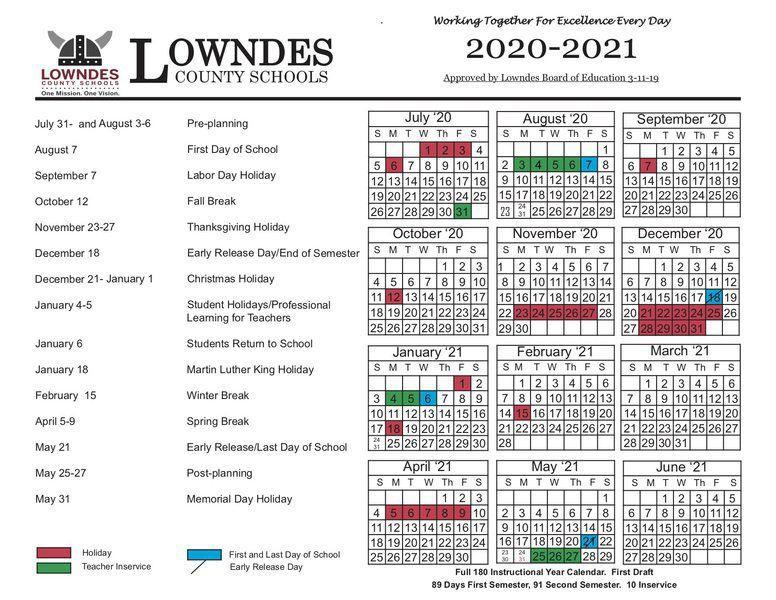 Troup County School Calendar 2020-21 County school calendars adjusted | Local News | valdostadailytimes.com