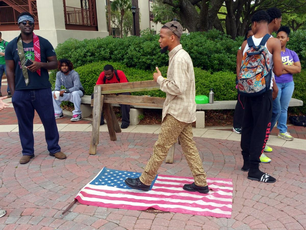 Protesters at VSU