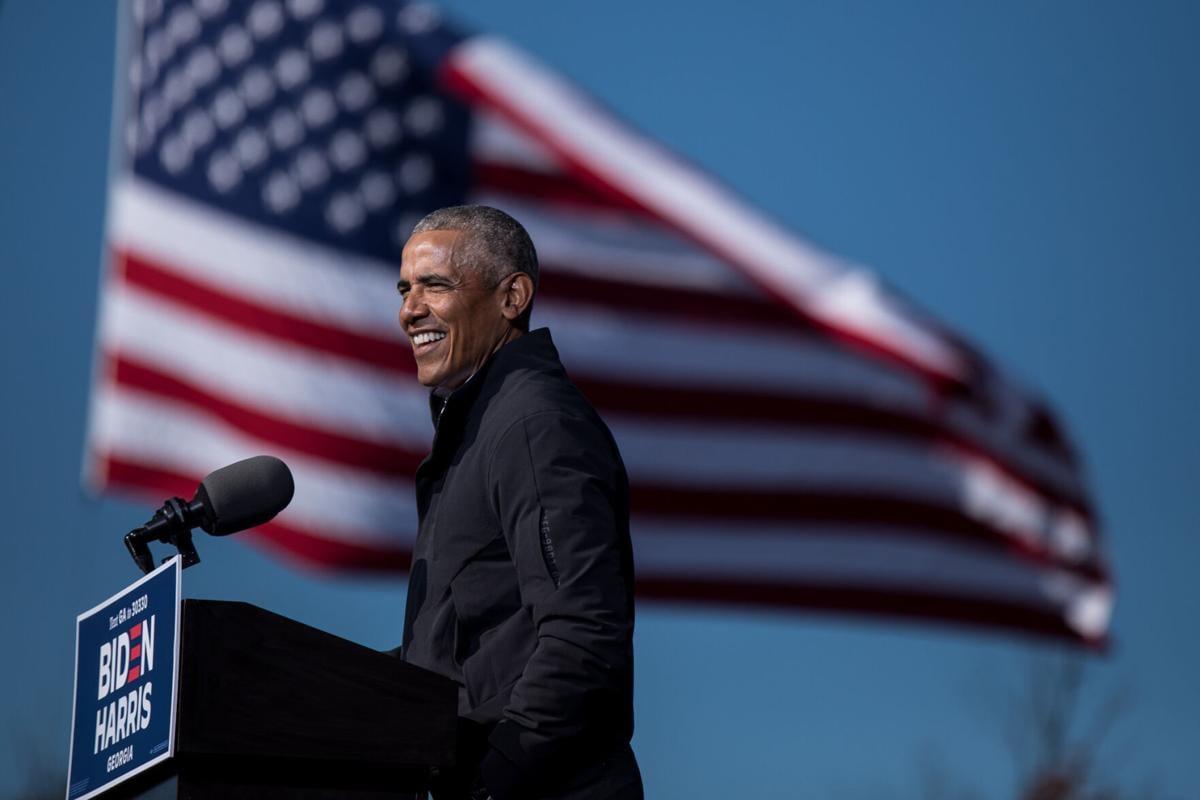 Obama rallies in Atlanta for Biden