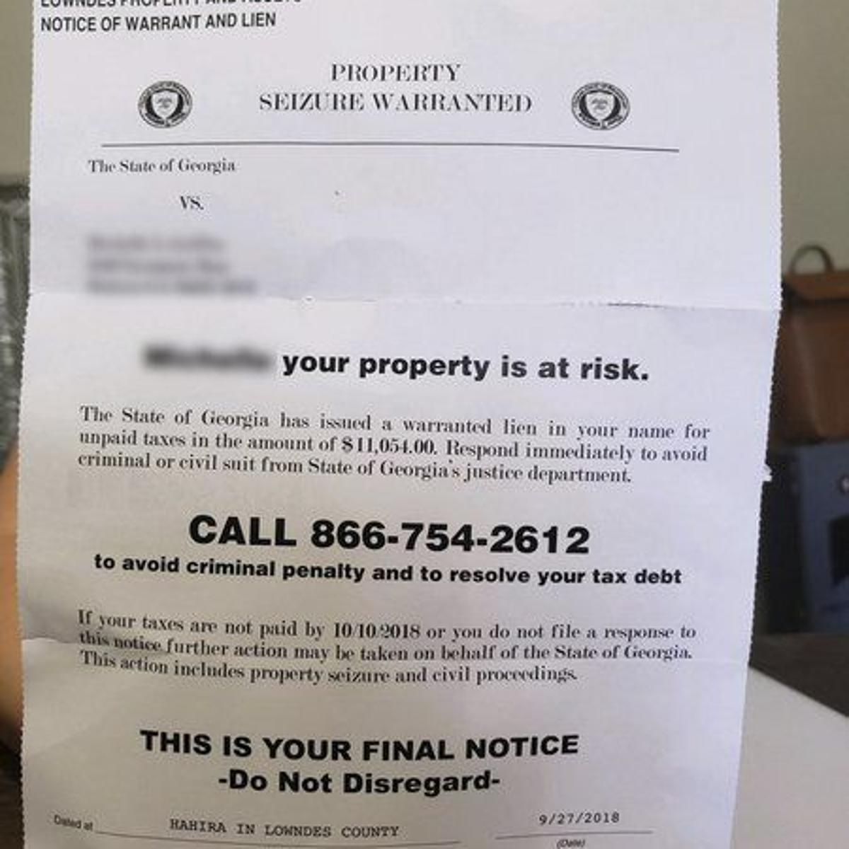 Tax commissioner: Beware phony letters | Local News