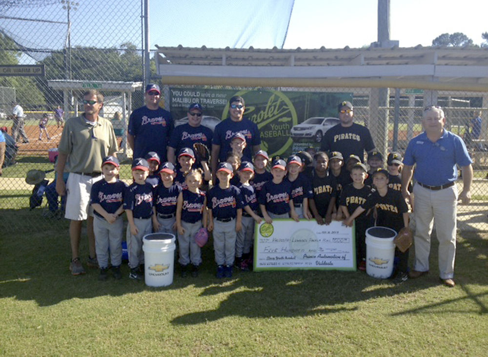 Local Valdosta/Lowndes County Recreation Department Baseball Teams Pose  With A Check Presented To The Department By Prince Automotive Group Of  Valdosta To ...