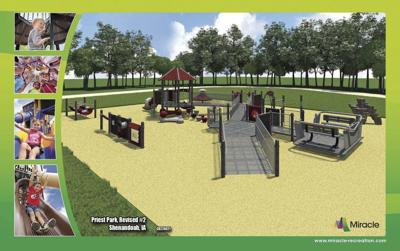 Priest Park new playground equipment on hold