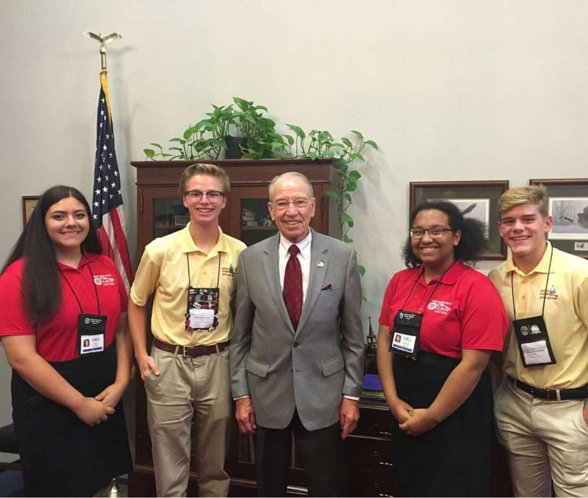 Malone Chapman Chosen To Represent State Of Iowa At Auxiliarys