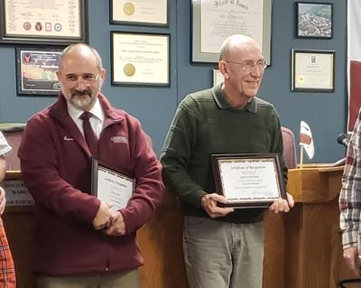 City says farewell to four employees