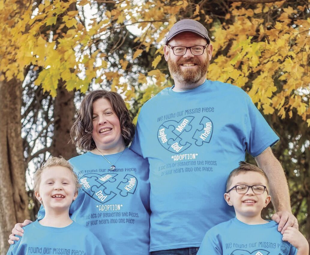 Olson's celebrate the adoption of a second child