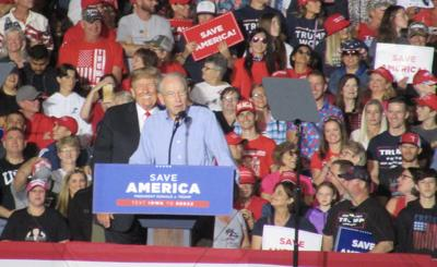 Trump in Iowa unloads on Biden, Democrats and 2020 election results