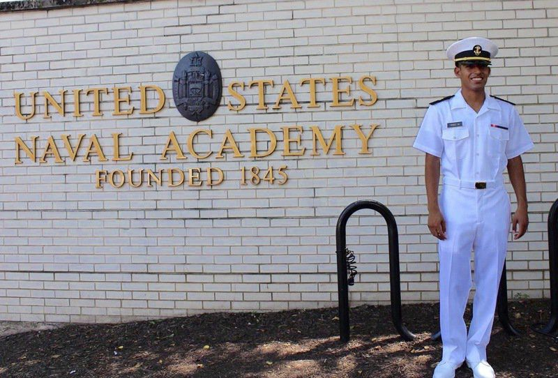 Naval Academy grad commissioned at Vance due to COVID-19 restrictions
