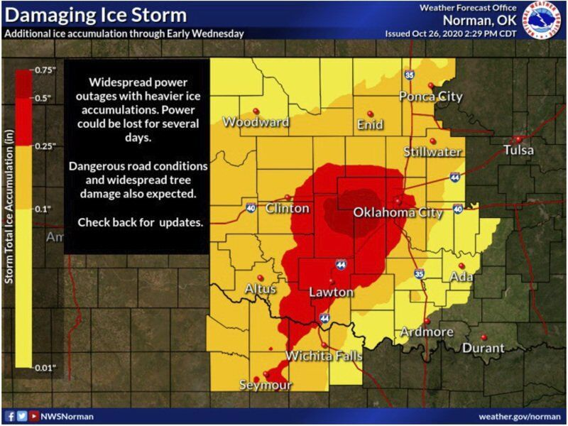 More freezing rain expected for Enid area