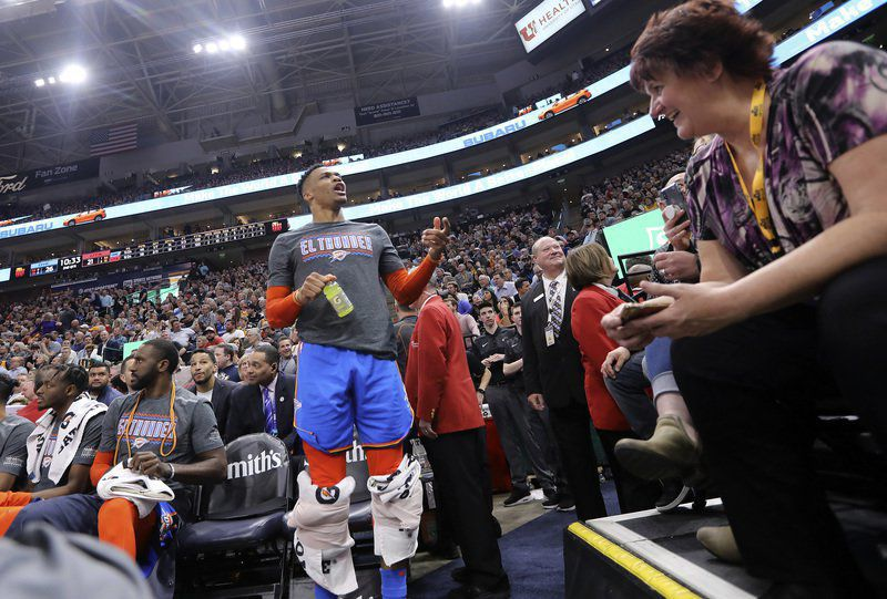 Westbrook confronts 2 fans at Jazz game, cites racial taunt