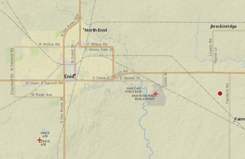 3.9 quake shakes Enid area