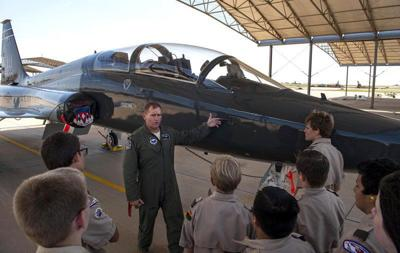 Boy Scout Troop 11 tours Vance, learns about mission up close