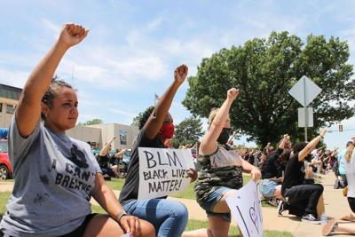 Black Lives Matter protests continued peacefully Sunday in Enid