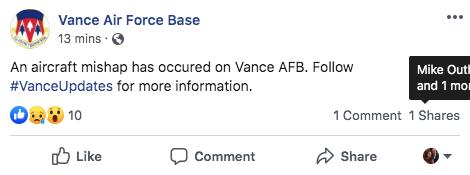 Vance 'mishap'