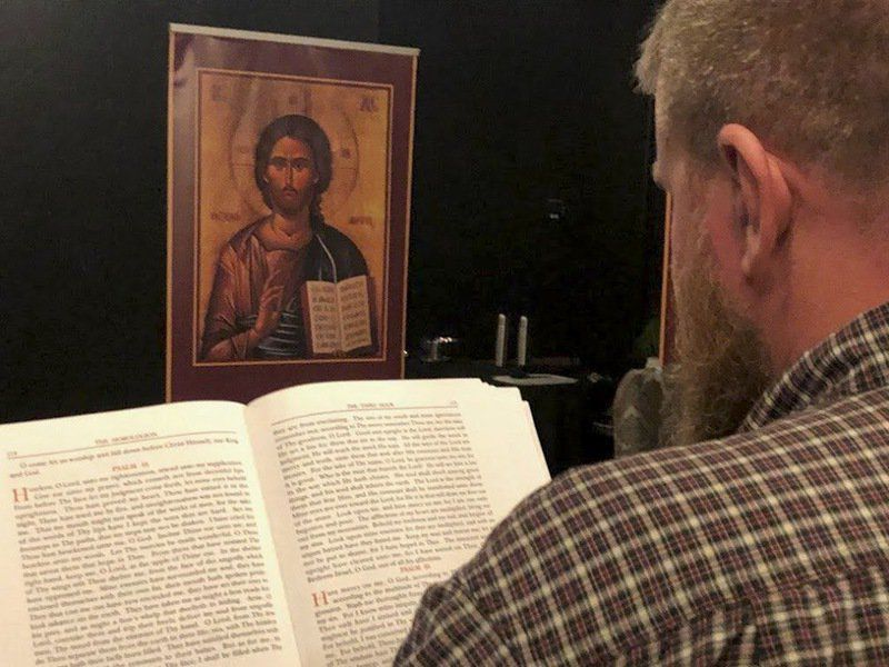 Orthodox Divine Liturgy celebrated in Enid, likely first time ever