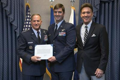 Vance T-38 instructor honored at Pentagon