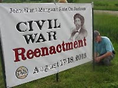 Civil War Reenactment sign