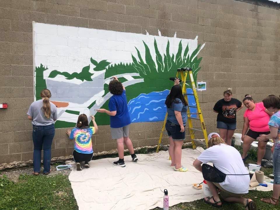 WHS Art Club painting