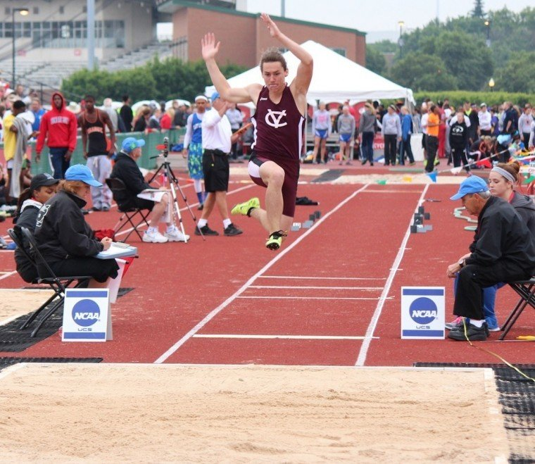 Viking sophomore competes in D-II boys long jump