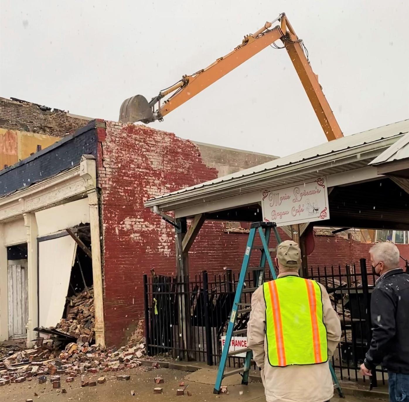 Demolition of former Eagles Lodge