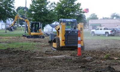 Manpower Park drainage work
