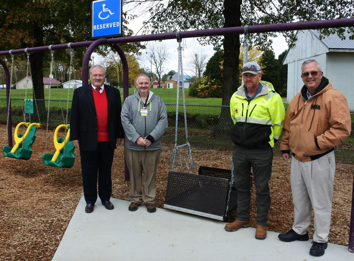 Handicap accessible swings installed in Manpower Park
