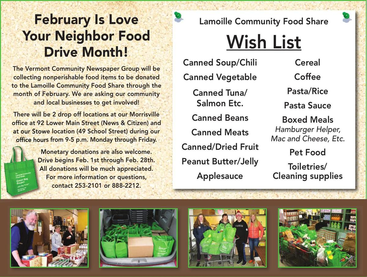 February Is Love Your Neighbor Food Drive Month!