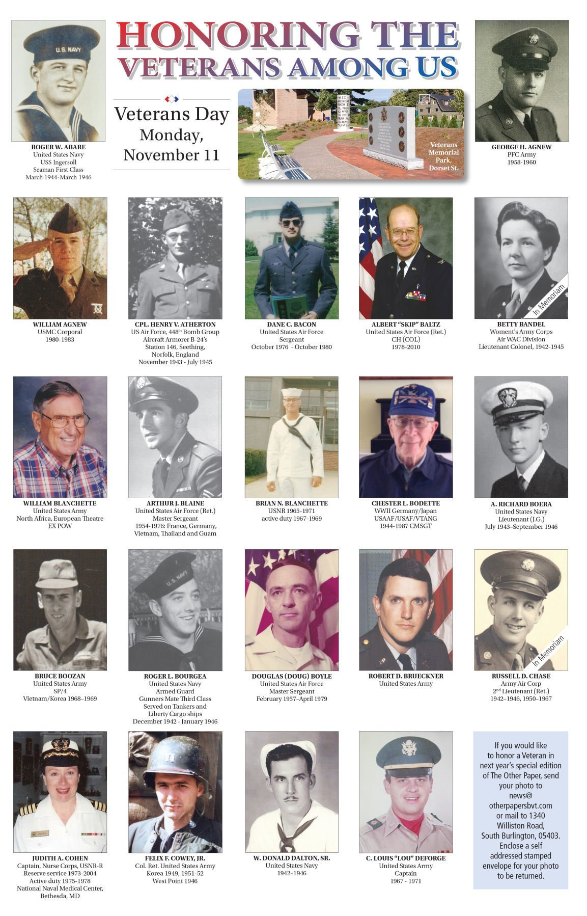 The Other Paper celebrates local Veterans