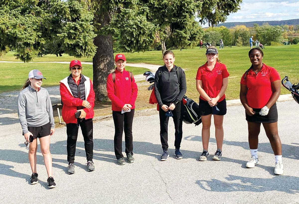 The CVU girls' golf team took second place