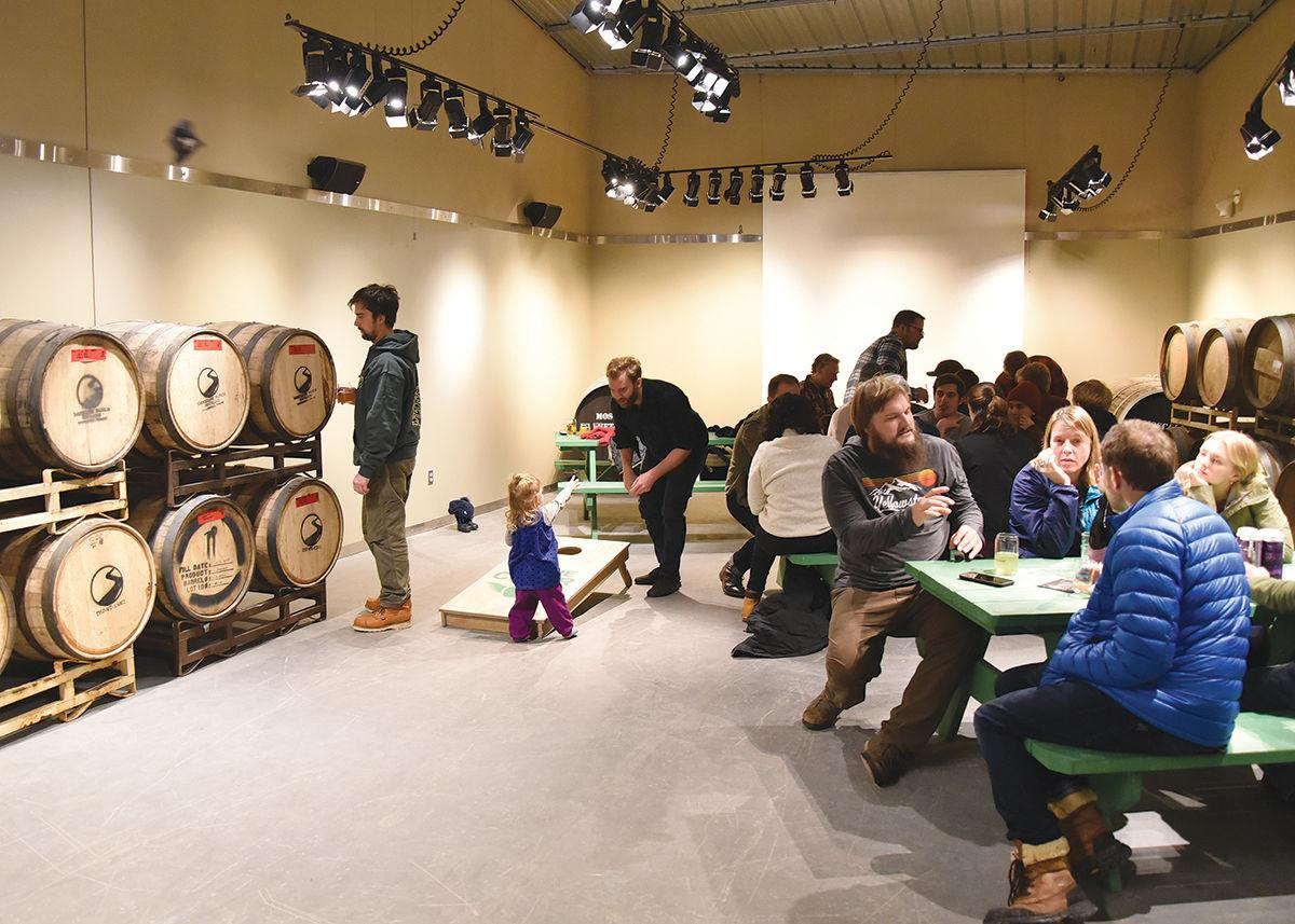 Stowe Cider's new space: barrels