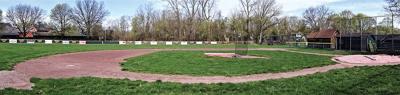 Baseball fields sit empty